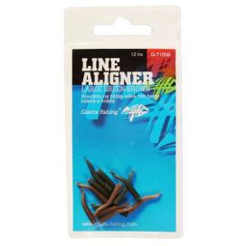 Giants Fishing Rovnátka na háček Line Aligner-Small Green-Brown/12pc