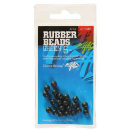 Giants Fishing Gumové kuličky Rubber Beads Transparent Green 6mm,20ks