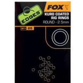 Fox Edges Kuro Coated rig rings kroužky 3,7mm 25ks