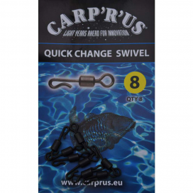 Carp´R´Us Quick Change Swivel - size 8, 8pcs