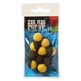 Giants Fishing Penové plávajúce boilie Zig Rig Pop-Up yelow-black 14mm, 10ks