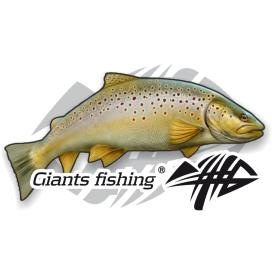 Giants Fishing Nálepka malá -Pstruh