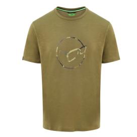 Korda Tričko LE Distressed Logo Tee Olive
