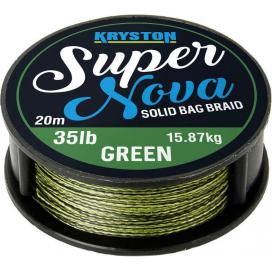 Kryston pletené šnúrky - Super Nova solid braid zelený 15lb 20m