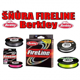 Rybářská pletená šňůra Berkley Fireline - šedá
