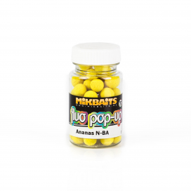 Mikbaits Plovoucí fluo boilie 60ml - Ananas N-BA 10mm