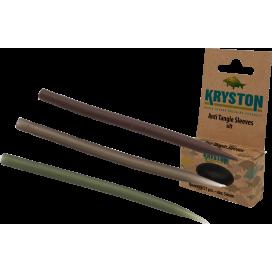 Kryston bižuterie - Krytky proti zamotání dlouhé hnědé 25ks