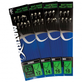 "Matrix Návazce 6"" Bait Band Pellet Rigs Barbed"