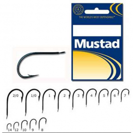 Rybářské háčky Mustad 496 Soft bait 2/0 25ks
