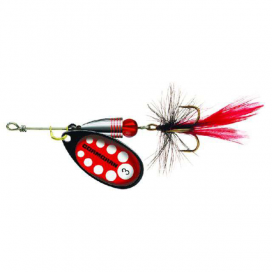 Třpytka Cormoran Bullet Longcast černo - červeno bílá tečka s muškou
