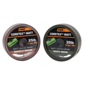 Fox Šňůrka Edges Matt Coretex Weedy Green 25lb 20m